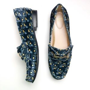 CAbi Carnaby Velvet Floral Loafers Style 6005